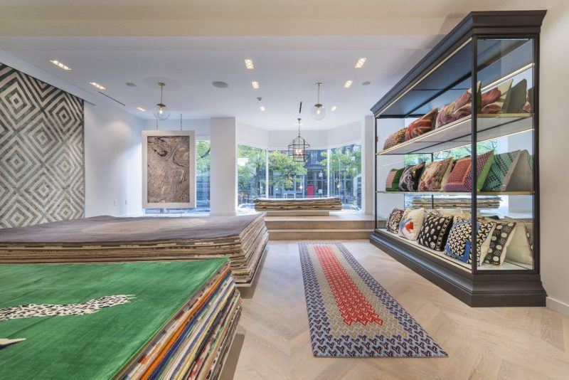 The rug company opens boston showroom on newbury street for 10 newbury salon