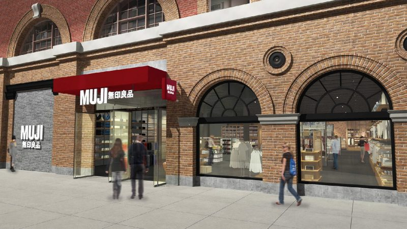 Rendering of MUJI Boston at 359 Newbury Street; image courtesy of MUJI.