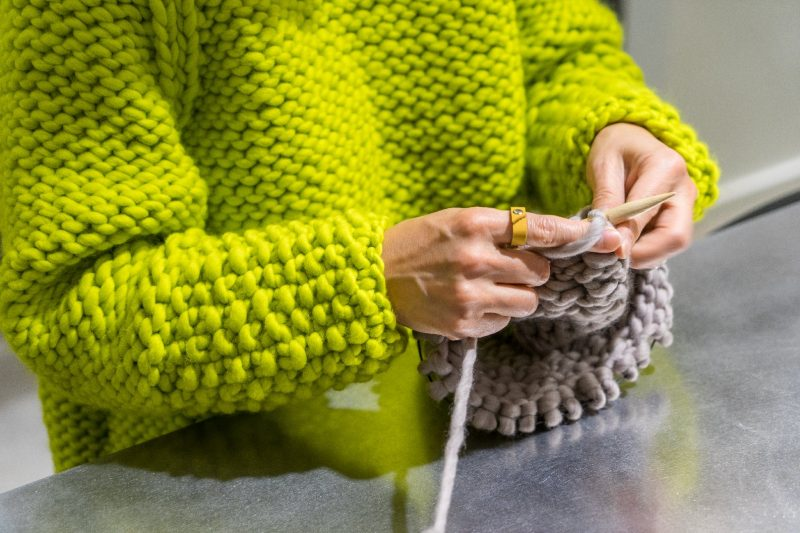 All garments at The Third Piece are handmade by Boston-area knitters.