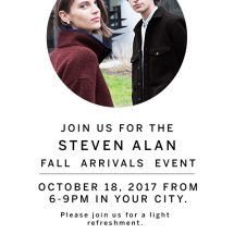 Fall Arrivals Event with Steven Alan