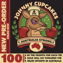Johnny Cupcakes is supporting the battle against Australia's wildfires