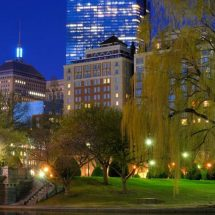 Taj Boston at night